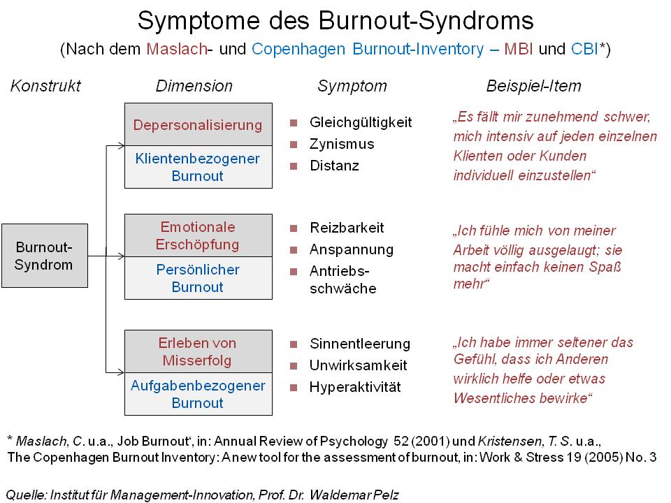 Burnout-Symptome von Prof. Dr. Waldemar Pelz
